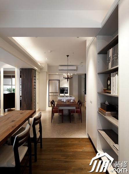 大气简约风 纯洁可人小户型 小户型装修,一居室装修,富裕型装修,简约风格,冷色调装修,时尚,工作区,书架,书桌