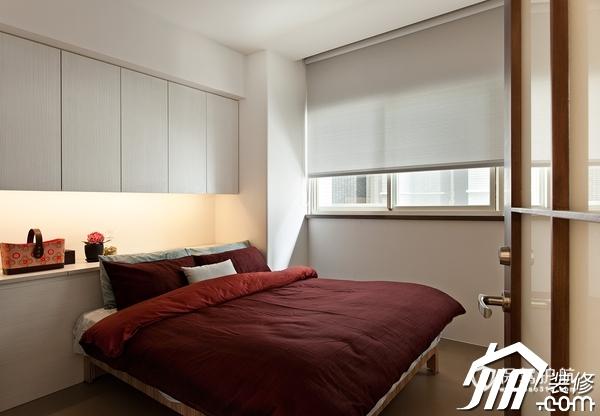 大气简约风 纯洁可人小户型 小户型装修,一居室装修,富裕型装修,简约风格,冷色调装修,时尚,卧室,床,卧室背景墙