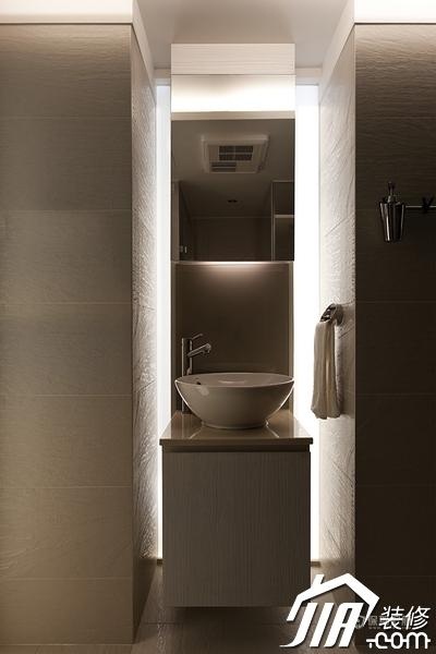 大气简约风 纯洁可人小户型 小户型装修,一居室装修,富裕型装修,简约风格,冷色调装修,时尚,过道,洗手台