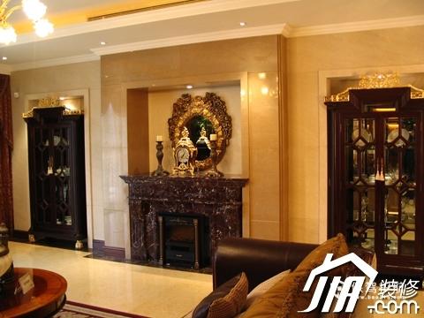 绽放优雅魅力 温馨低调奢华大宅 四房以上装修,豪华型装修,简约风格,暖色调,背景墙