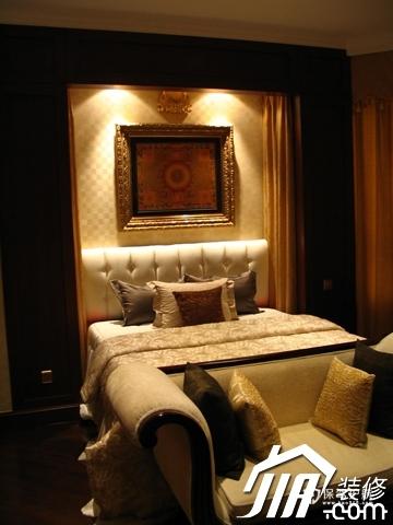 绽放优雅魅力 温馨低调奢华大宅 四房以上装修,豪华型装修,简约风格,卧室,床,沙发,灯具,卧室背景墙