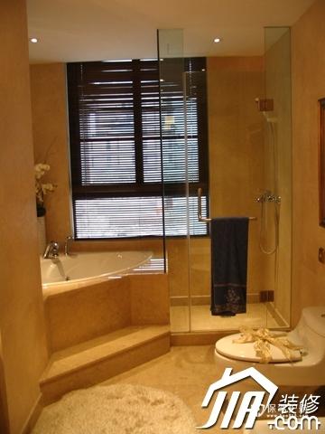 绽放优雅魅力 温馨低调奢华大宅 四房以上装修,豪华型装修,简约风格,卫生间,暖色调