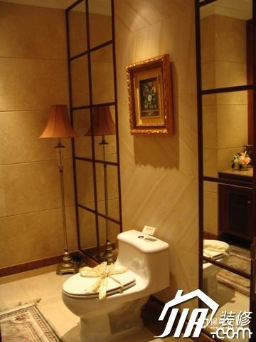 绽放优雅魅力 温馨低调奢华大宅 四房以上装修,豪华型装修,简约风格,卫生间,暖色调,灯具,装饰画