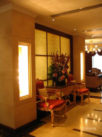绽放优雅魅力 温馨低调奢华大宅 四房以上装修,豪华型装修,简约风格,暖色调,沙发,灯具