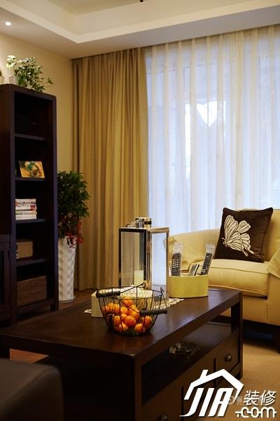 四室两厅田园风格70平客厅装潢效果图