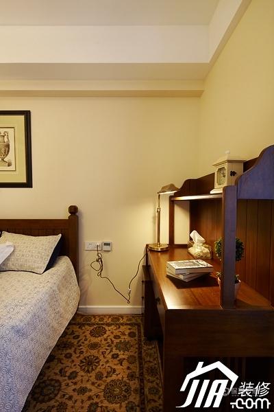 四室一厅古典美式风格卧室典雅软装装修效果图