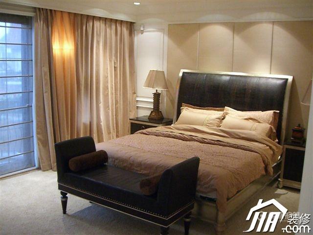 典雅简欧风格别墅卧室背景墙装修效果图