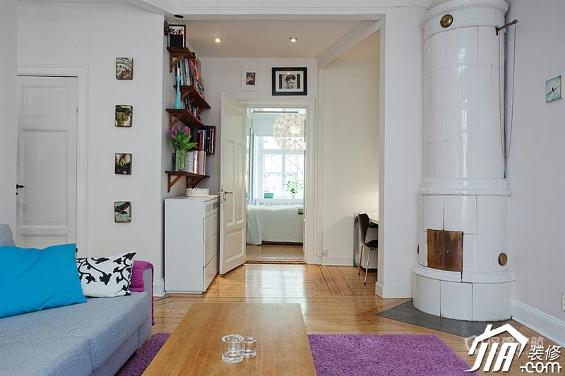 瑞典北欧式小居室 彩色活力温馨窝