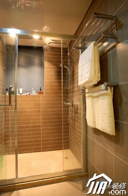 呼吸层次美感 时尚三居室简欧装 三居室装修,20万以上装修,简约风格,欧式风格,卫生间,卫浴挂件