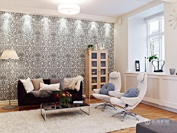 80平简洁北欧风公寓客厅装修效果图