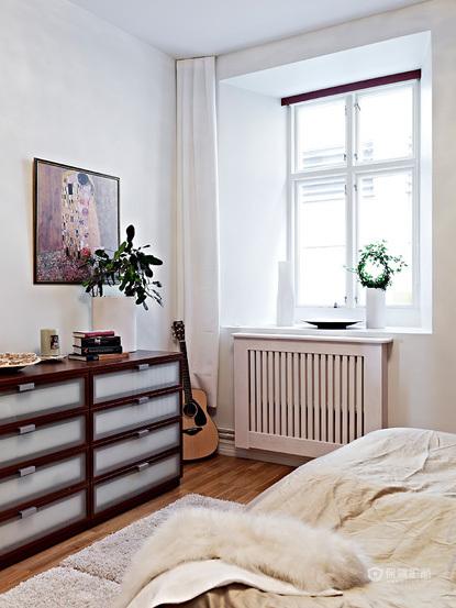 80平简洁北欧风公寓装修卧室装修效果图