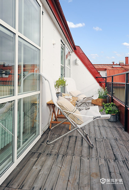 简约北欧风 现代化阁楼公寓 公寓装修,110平米装修,经济型装修,北欧风格,露台