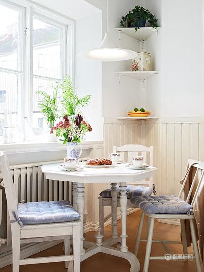 50平清新北欧风小户型餐厅装修效果图