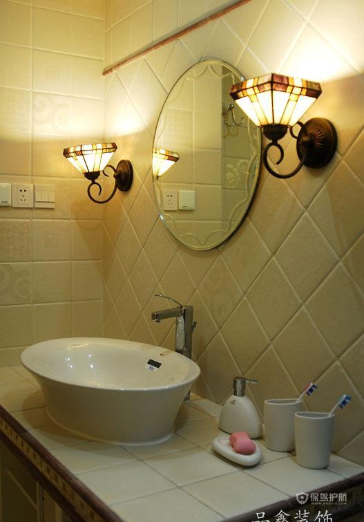 三室一厅地中海风格10平米卫生间洗手台装修效果图