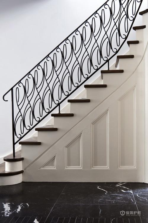 优雅浪漫简欧别墅玄关楼梯装修效果图