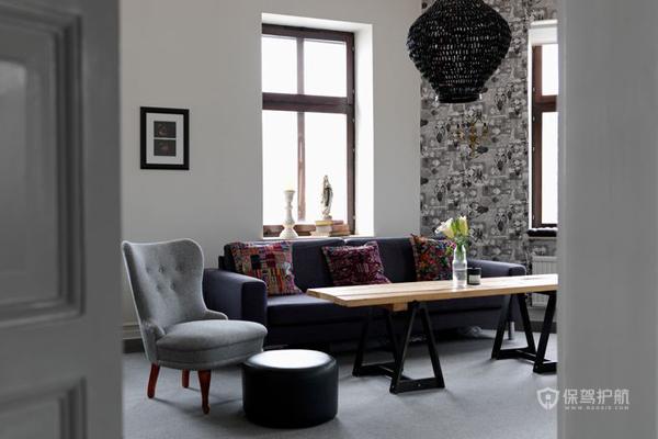 北欧90平公寓客厅装修效果图