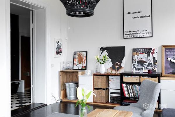 简约清新风格公寓客厅装修效果图