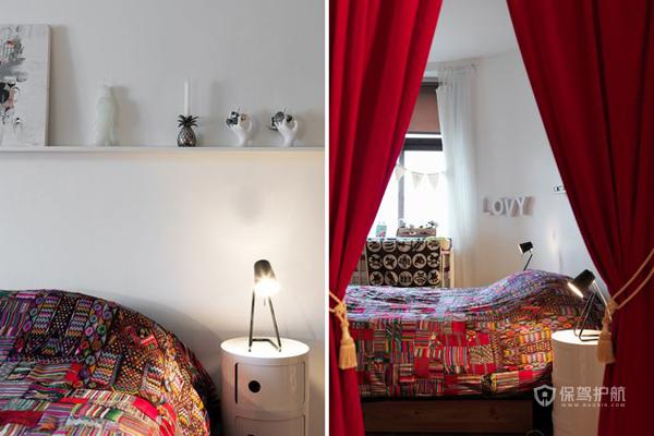 欧式田园风四室一厅卧室装修效果图