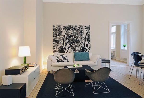 黑白极简居室  北欧舒适小户