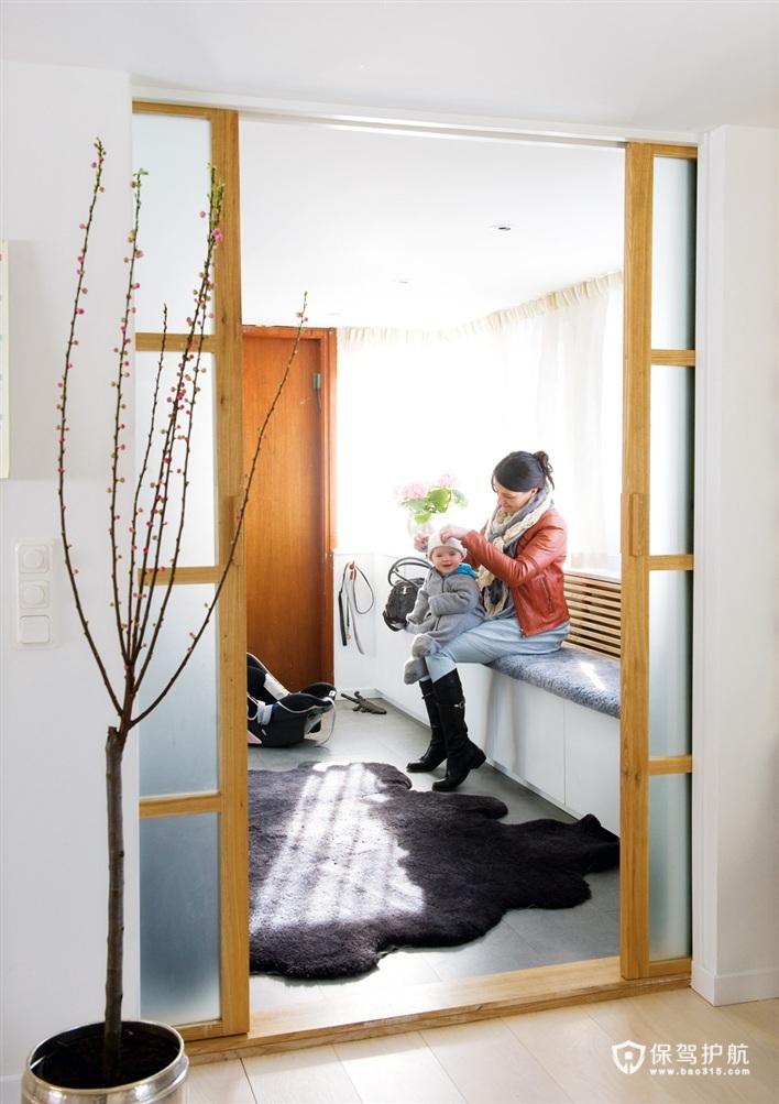 瑞典简欧公寓 阳光满溢阁楼 欧式风格,北欧风格,富裕型装修,公寓装修,二居室装修,过道