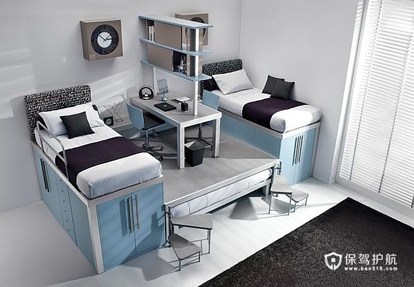 多彩双人儿童房 20款卧室组合式家具设计 儿童房,富裕型装修,简约风格