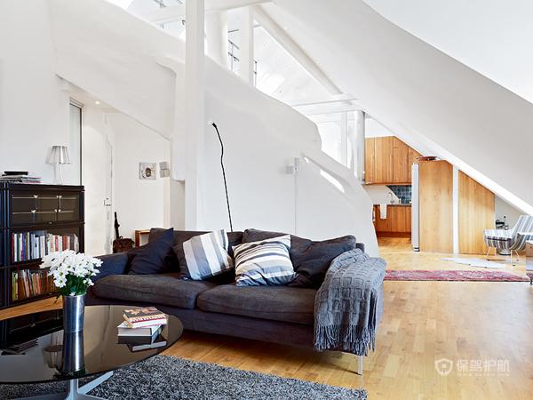 简欧风格复式楼客厅装修效果图