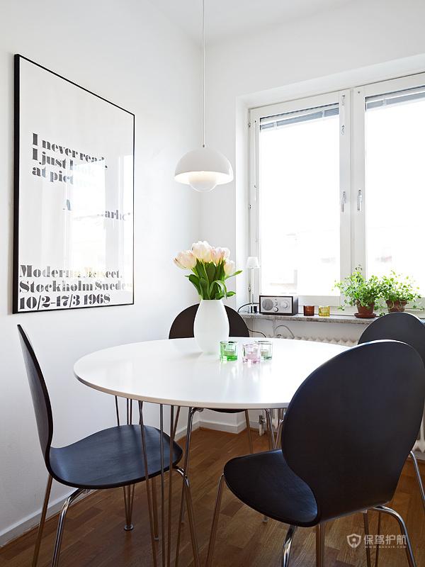 宜家风格一室一厅10平米餐厅简约家具效果图