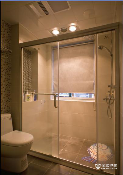 简洁大方 简约温馨两居室 二居室装修,富裕型装修,简约风格,卫生间,简洁