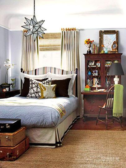 小户型美式田园风卧室装修效果图