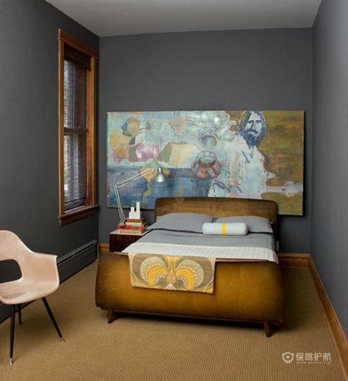 简约美式小户型卧室背景墙装修效果图