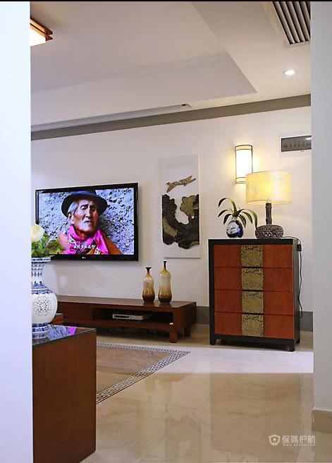 四室两厅80平简约风格客厅装修效果图