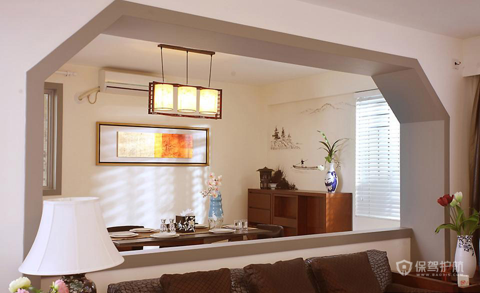后现代风格复式楼客厅装潢效果图