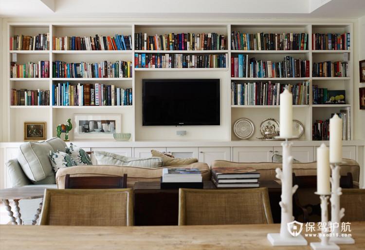 文艺范 13款超强收纳电视背景墙 电视背景墙,客厅,书架