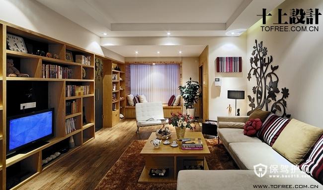 文艺范 13款超强收纳电视背景墙 电视背景墙,客厅,沙发,茶几