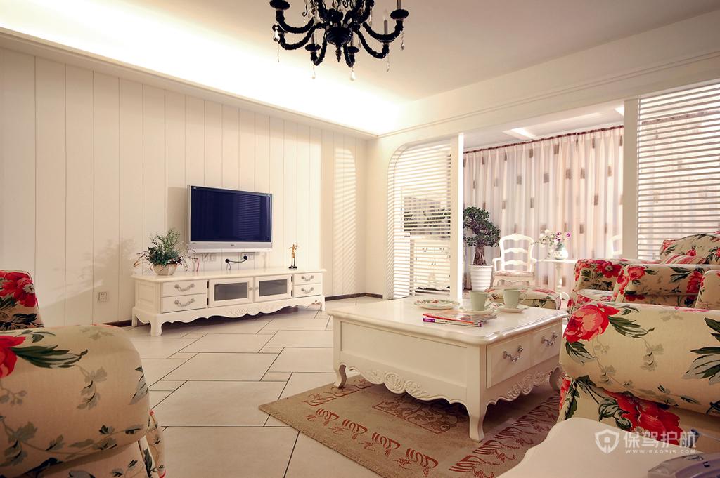简欧风格公寓客厅装修效果图