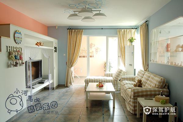各种风格客厅 25款个性电视背景墙 客厅,电视背景墙,沙发,茶几,窗帘