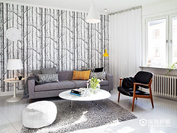 手绘艺术 10款客厅沙发手绘背景墙 沙发背景墙,手绘墙,公寓装修,沙发,茶几