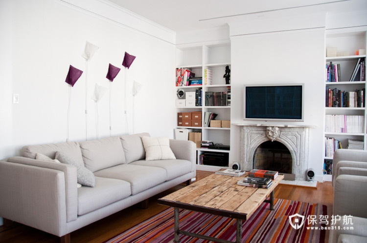 文艺范 13款超强收纳电视背景墙 电视背景墙,客厅
