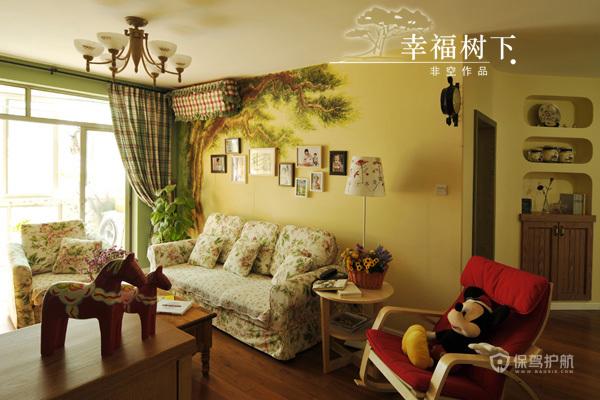 留住美好回忆 10款沙发背景照片墙 照片墙,客厅,沙发,手绘墙