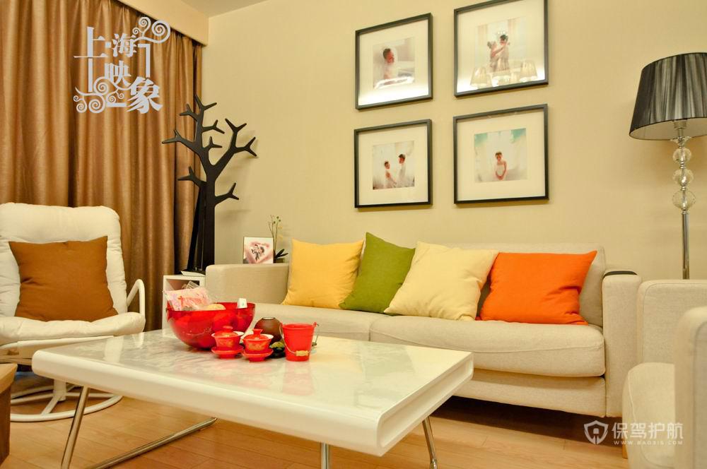 留住美好回忆 10款沙发背景照片墙 照片墙,客厅,沙发,茶几