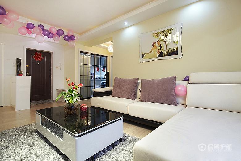 110平现代简约婚房 都市温馨三室