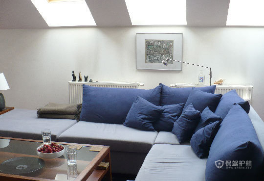 简约风格复式楼10平米阁楼客厅装修效果图