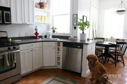 现代简约风一居室厨房橱柜装修效果图