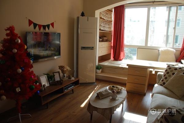 日式风格简洁家 自然原木一居室