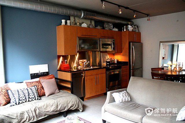 温馨舒适 半开放式单身公寓