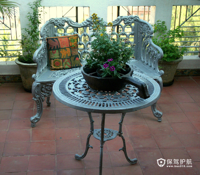 拙朴自然东南亚 异域温馨三居 海外家居,三居室装修,5-10万装修,东南亚风格,露台