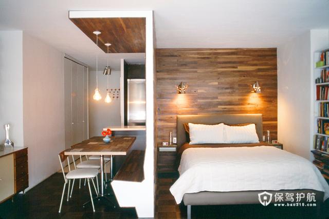 木质简洁小户型 黑白巧搭出美家