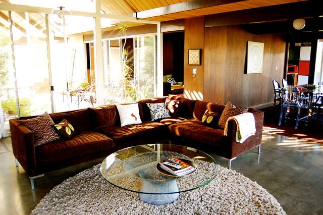 110平低调华现代别墅客厅装修效果图…