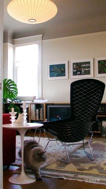 混搭风格四室一厅20平书房软装搭配效果图