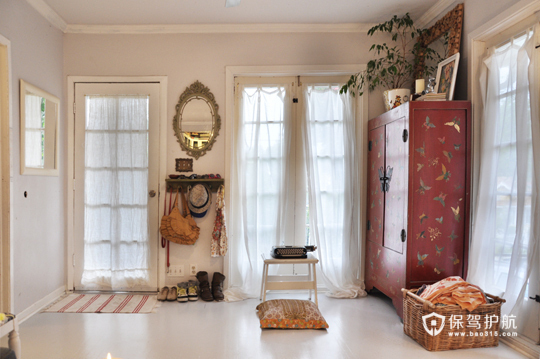 漂亮背景墙 浪漫舒适的简约三居